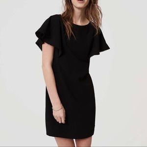LOFt Petite Pom Pom Shift Dress NWT
